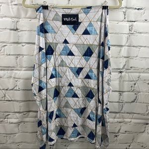 Milk Snob geometric multi-use cover up